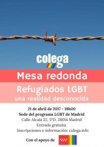 Experts and LGBT asylum seekers share opinions at a round table organized by Colega
