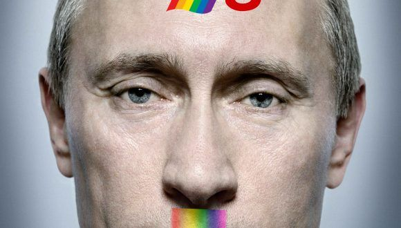 Colega protests against the persecution of LGBT folks in Russia