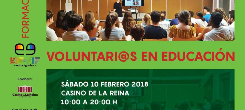 Formación de voluntariado en intervenciones educativas 2018